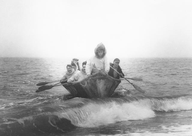 The Umiak Is A Type Of Boat Used By Inuit For Transportation Its Name Means Womans As Opposed To Kayak Which Mans